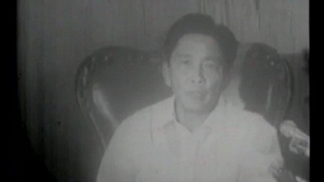 REMEMBERING MARTIAL LAW. This is a screengrab from the video showing the broadcast of former strongman Ferdinand Marcos' declaration of martial law