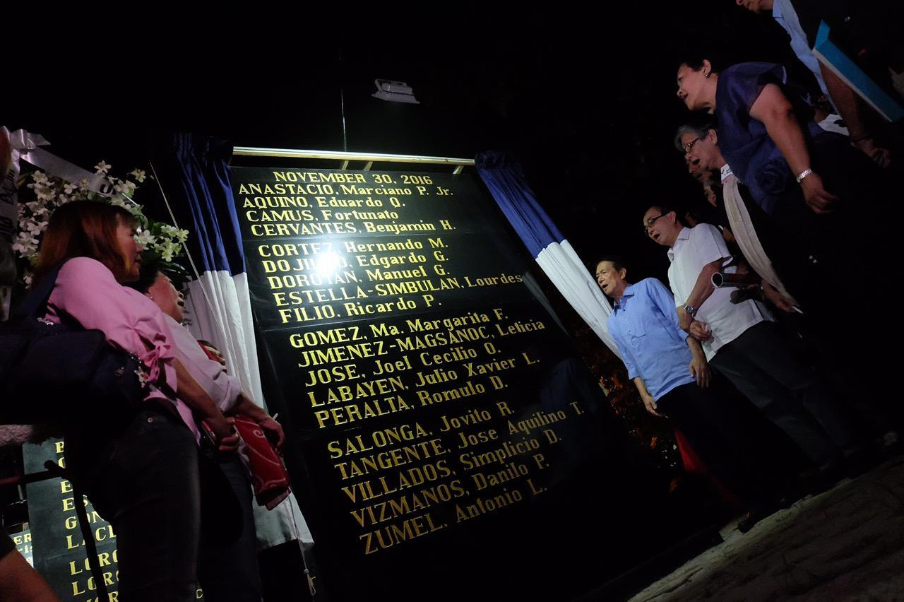 19 anti-dictatorship heroes added to Bantayog 'wall of remembrance'