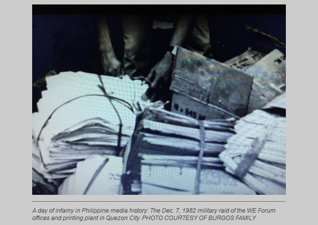 Revisiting the 'WE Forum' raid, Martial Law and the Marcos war record 1