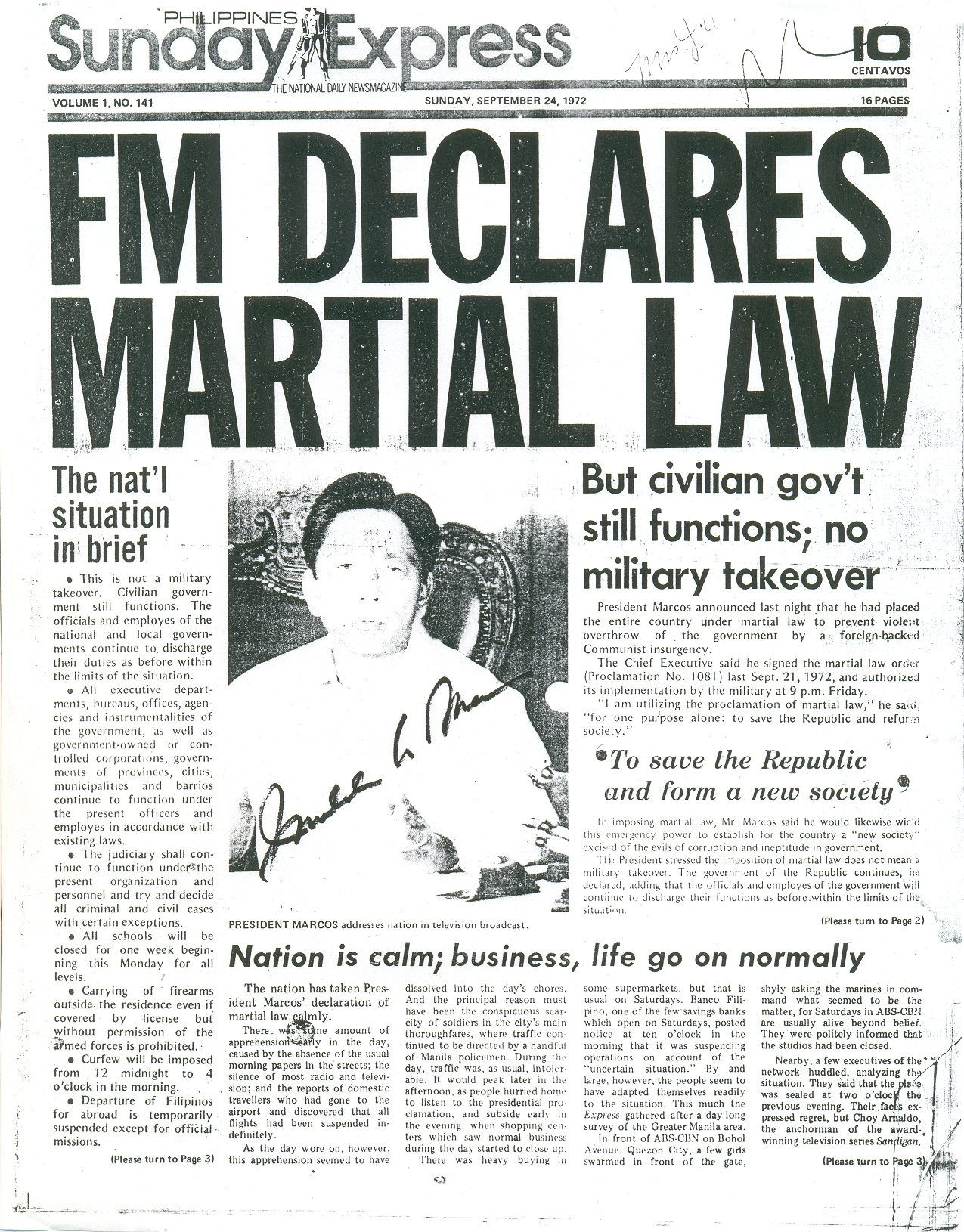 Philippines media and the impact of the Martial Law period