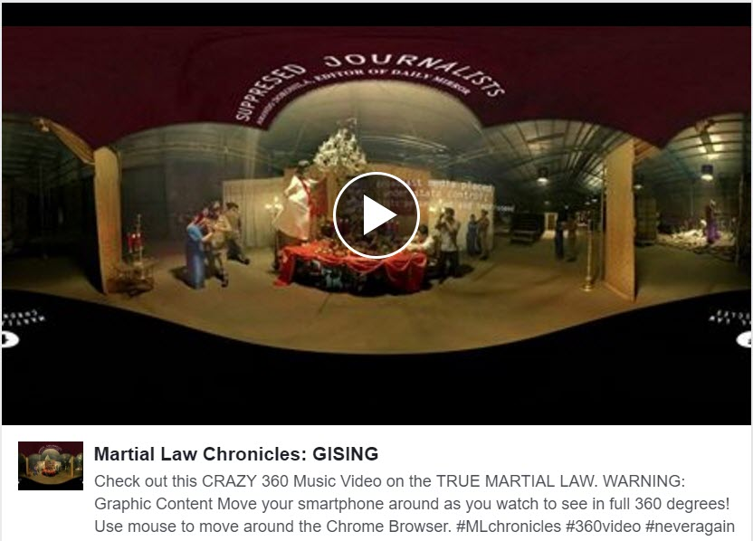 GISING.  Martial Law 360 Music Video