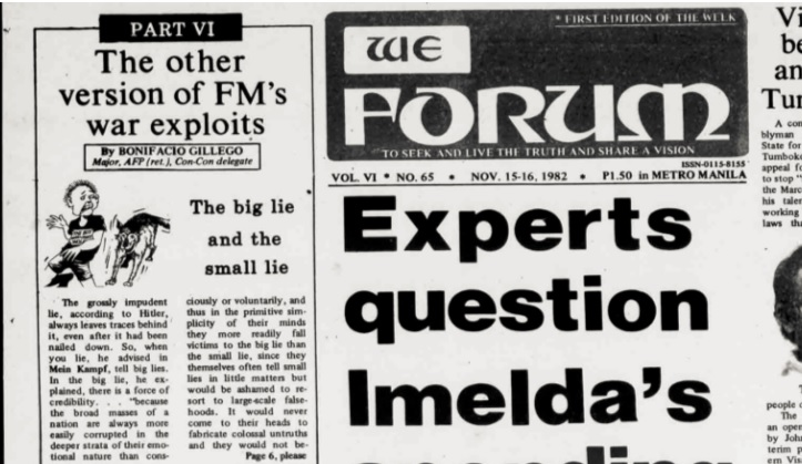 Revisiting the 'WE Forum' raid, Martial Law and the Marcos war record