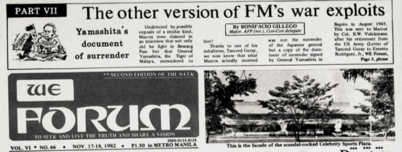 Revisiting the 'WE Forum' raid, Martial Law and the Marcos war record 2