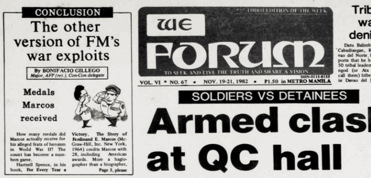 Revisiting the 'WE Forum' raid, Martial Law and the Marcos war record 3