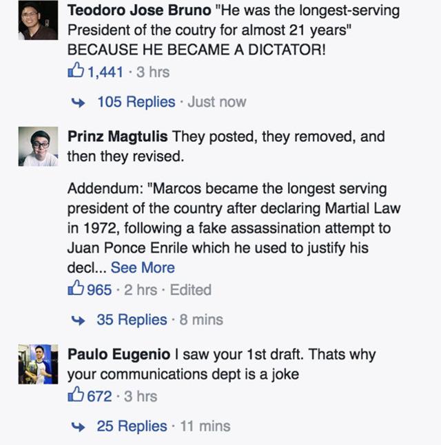Official Gazette under fire for Marcos photo caption 4