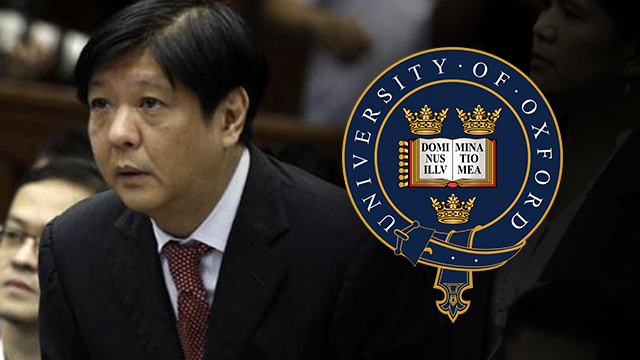 Oxford University confirms Bongbong Marcos got only 'special diploma'