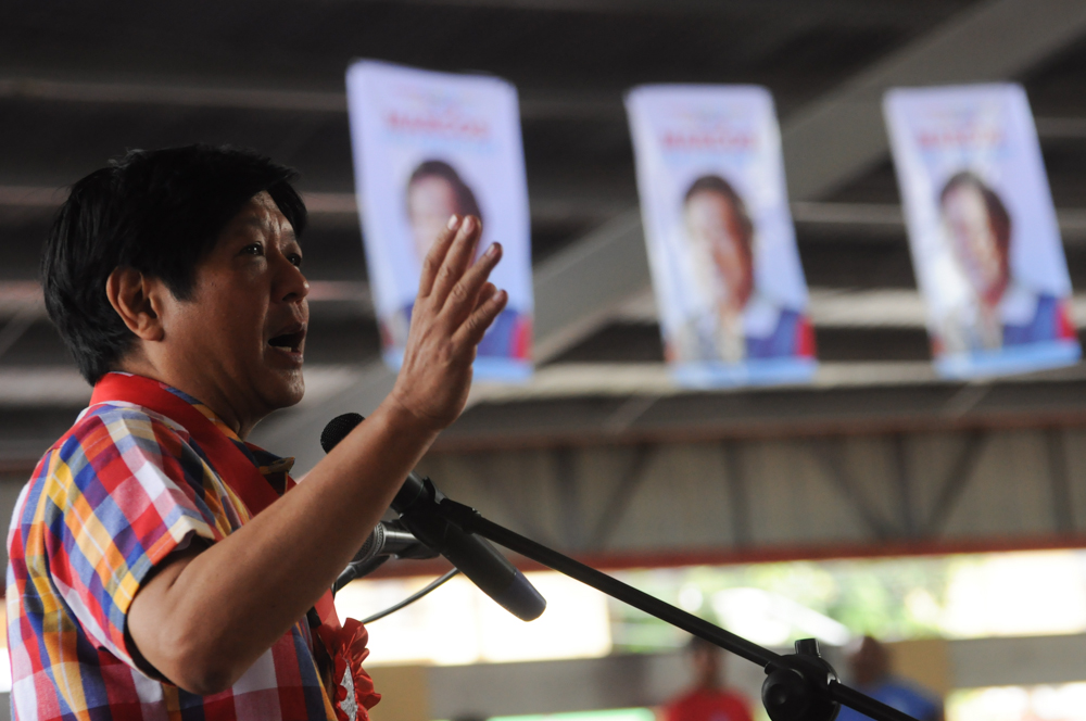 Bongbong Marcos too says 'never again' to martial law