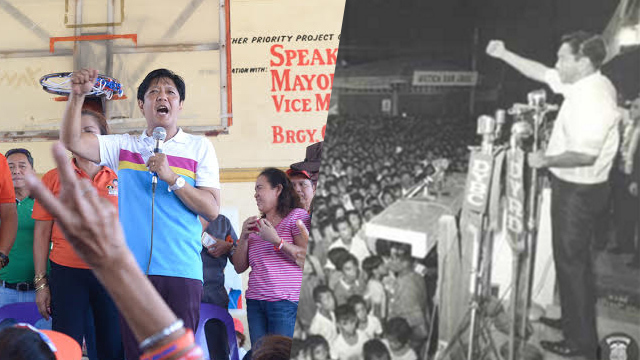 How Bongbong Marcos mirrors father's image in campaign