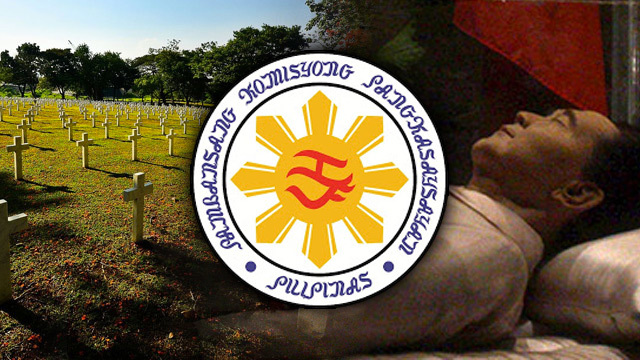 NHCP objects to Marcos burial at Libingan ng mga Bayani