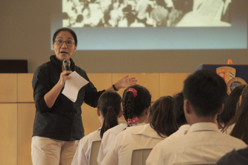 XS Nuvali: Ms. Susan Quimpo talks to high school students about Martial Law atrocities 1