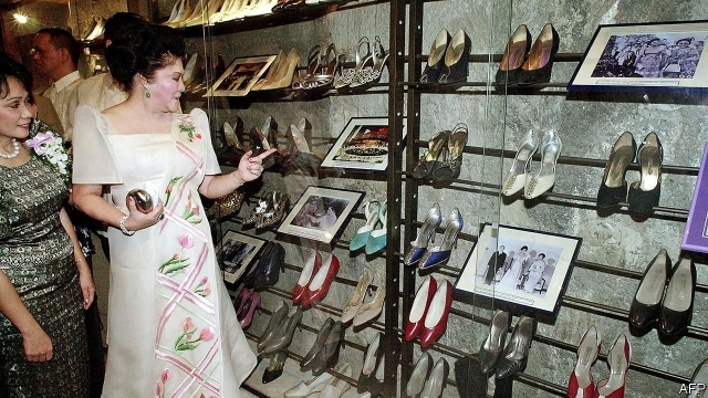 Imelda Marcos is found guilty of corruption, but not imprisoned