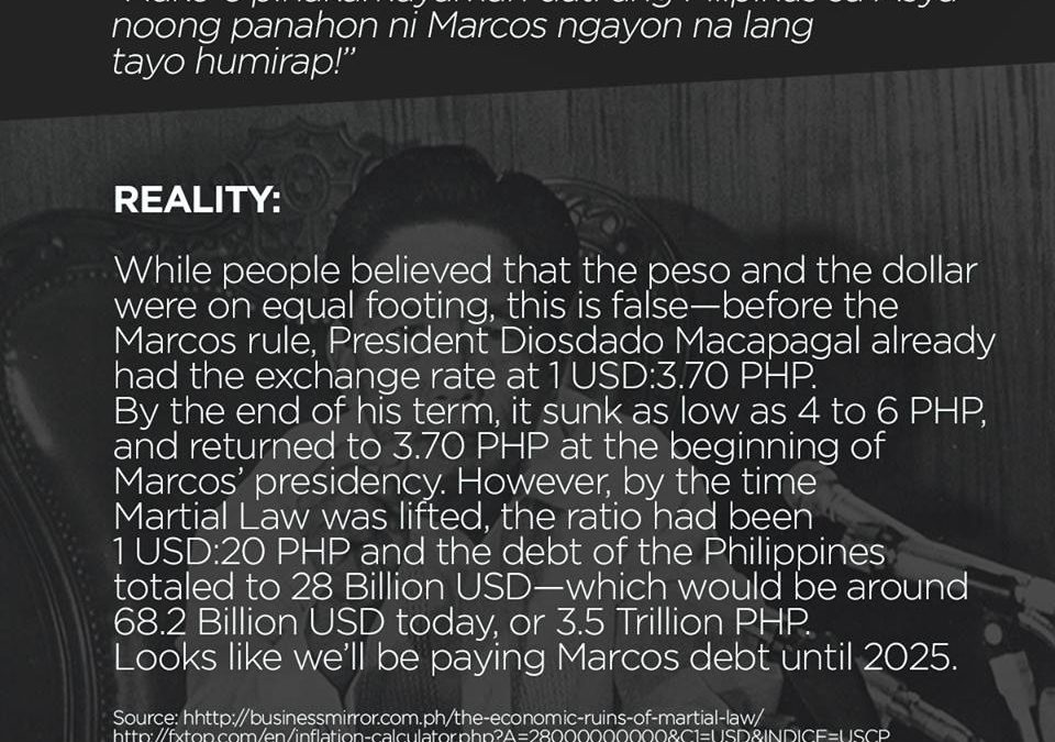 Taxpayers to shoulder Marcos debt until 2025 – Ibon